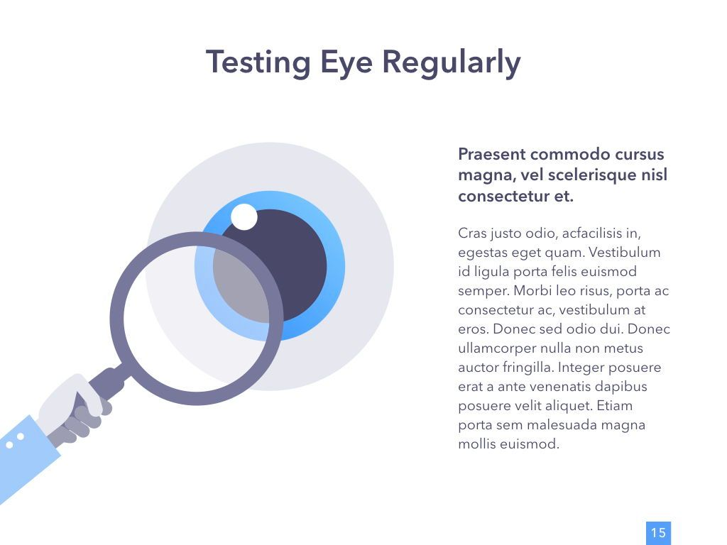 Eye Health Google Slides Template, Slide 16, 04845, Medical Diagrams and Charts — PoweredTemplate.com