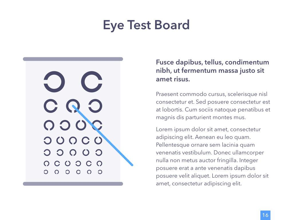 Eye Health Google Slides Template, Slide 17, 04845, Medical Diagrams and Charts — PoweredTemplate.com