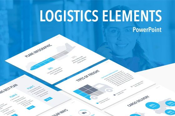 Infographics: Logistics Elements PowerPoint Template #04849