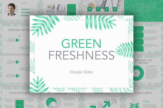 Presentation Templates: Green Freshness Google Slides Template #04852