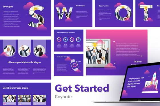 Presentation Templates: Get Started Keynote Presentation Template #04853