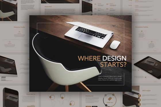 Presentation Templates: Inception Google Slides Template #04856