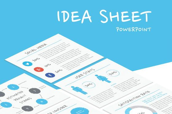 Presentation Templates: Idea Sheet PowerPoint Presentation Template #04858