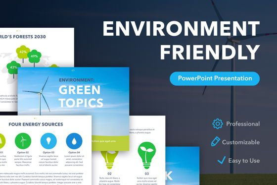 Infographics: Environment Friendly PowerPoint Template #04860