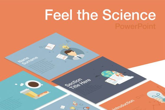 Education Charts and Diagrams: Feel the Science PowerPoint Template #04862