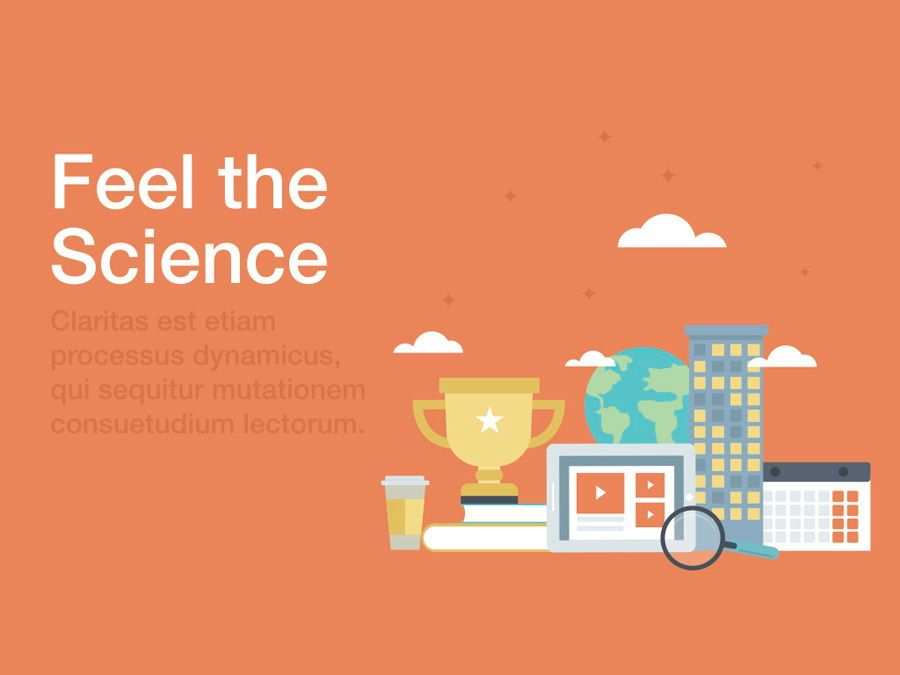 Feel the Science PowerPoint Template, Slide 2, 04862, Education Charts and Diagrams — PoweredTemplate.com
