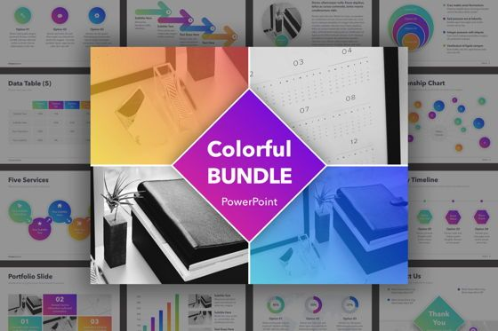 Presentation Templates: Colorful Bundle PowerPoint Template #04863