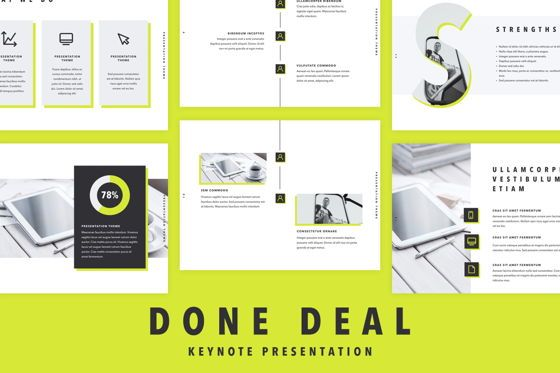 Presentation Templates: Done Deal Keynote Template #04864