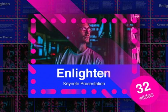 Presentation Templates: Enlighten Keynote Template #04865