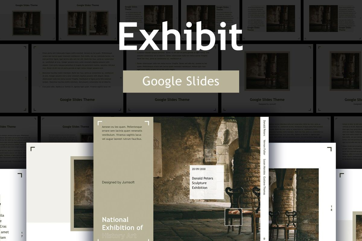 Exhibit Google Slides Template, 04866, Presentation Templates — PoweredTemplate.com