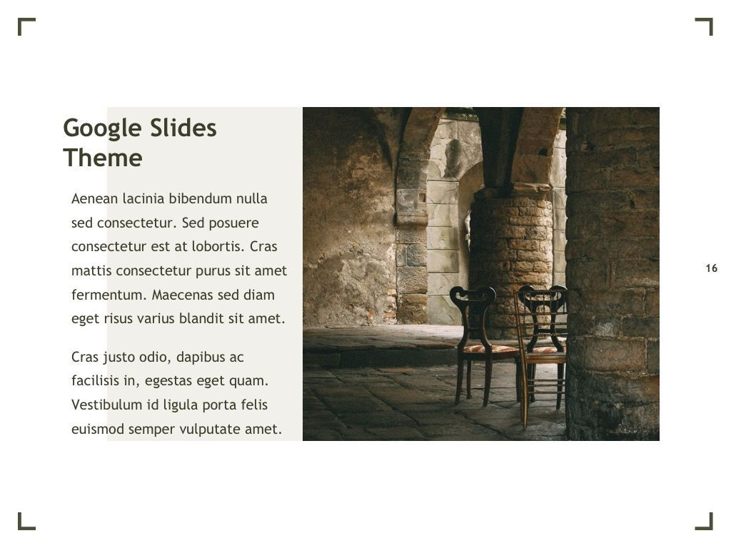 Exhibit Google Slides Template, Slide 17, 04866, Presentation Templates — PoweredTemplate.com