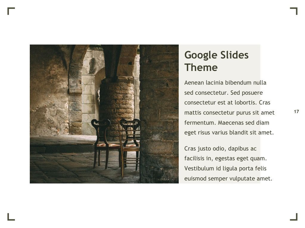 Exhibit Google Slides Template, Slide 18, 04866, Presentation Templates — PoweredTemplate.com