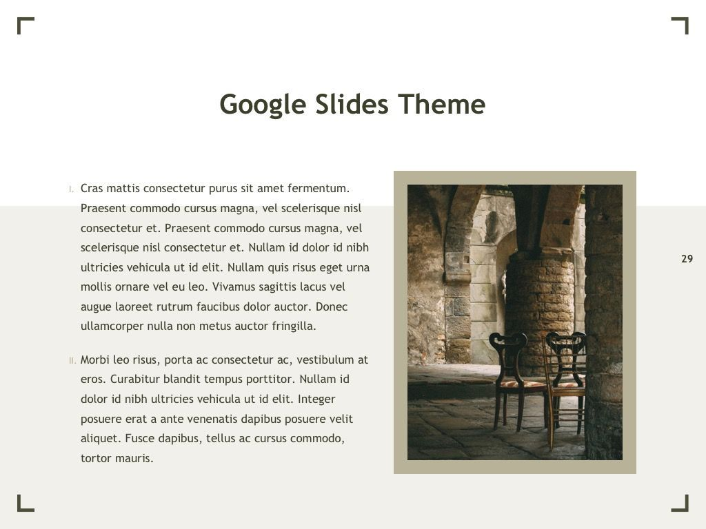 Exhibit Google Slides Template, Slide 30, 04866, Presentation Templates — PoweredTemplate.com