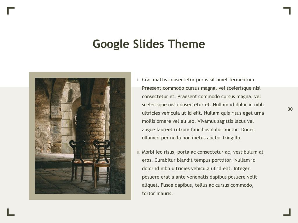 Exhibit Google Slides Template, Slide 31, 04866, Presentation Templates — PoweredTemplate.com