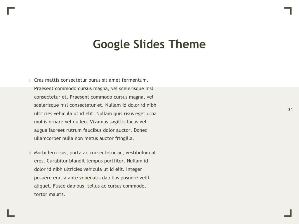 Exhibit Google Slides Template, Slide 32, 04866, Presentation Templates — PoweredTemplate.com