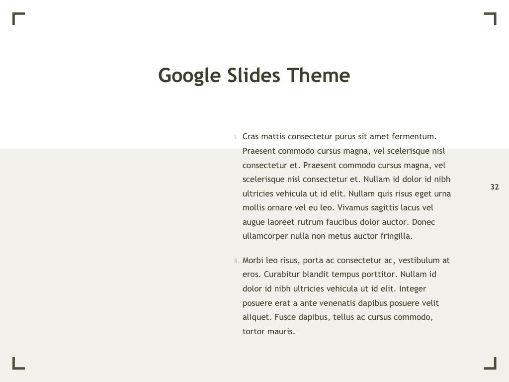 Exhibit Google Slides Template, Slide 33, 04866, Presentation Templates — PoweredTemplate.com