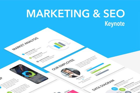Presentation Templates: Marketing SEO Keynote Template #04868