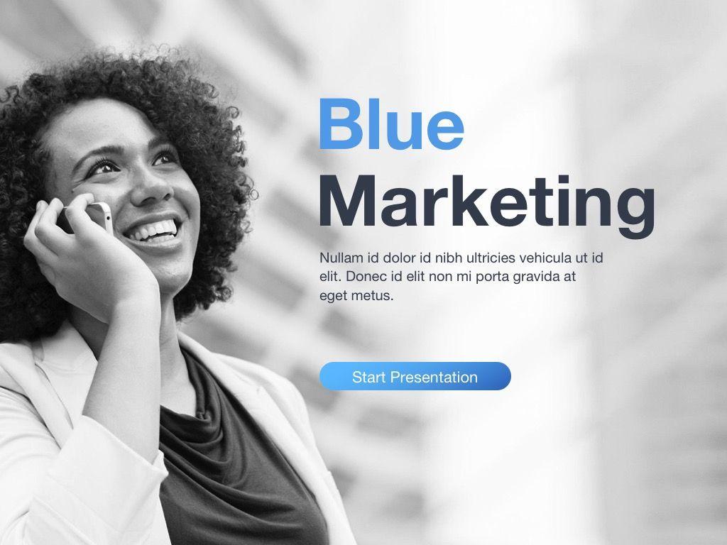 Marketing Blues Google Slides Theme, Slide 2, 04869, Presentation Templates — PoweredTemplate.com