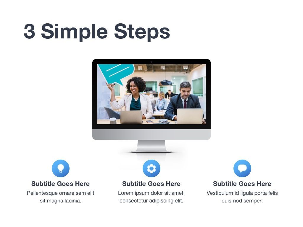 Marketing Blues Google Slides Theme, Slide 9, 04869, Presentation Templates — PoweredTemplate.com