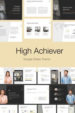 Presentation Templates: High Achiever Google Slides Theme #04870