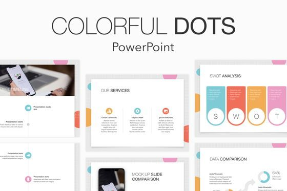 Presentation Templates: Colorful Dots PowerPoint Template #04872