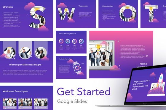 Presentation Templates: Get Started Google Slides Theme Template #04875