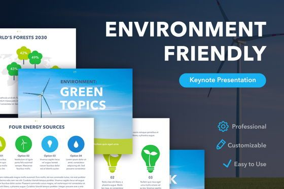 Presentation Templates: Environment Friendly Keynote Template #04877