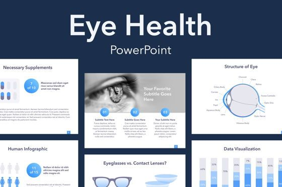 Presentation Templates: Eye Health PowerPoint Template #04879