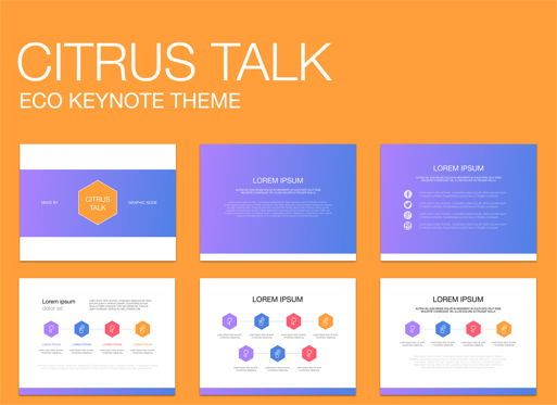 Business Models: Citrus Talk 02 Keynote Presentation Template #04883