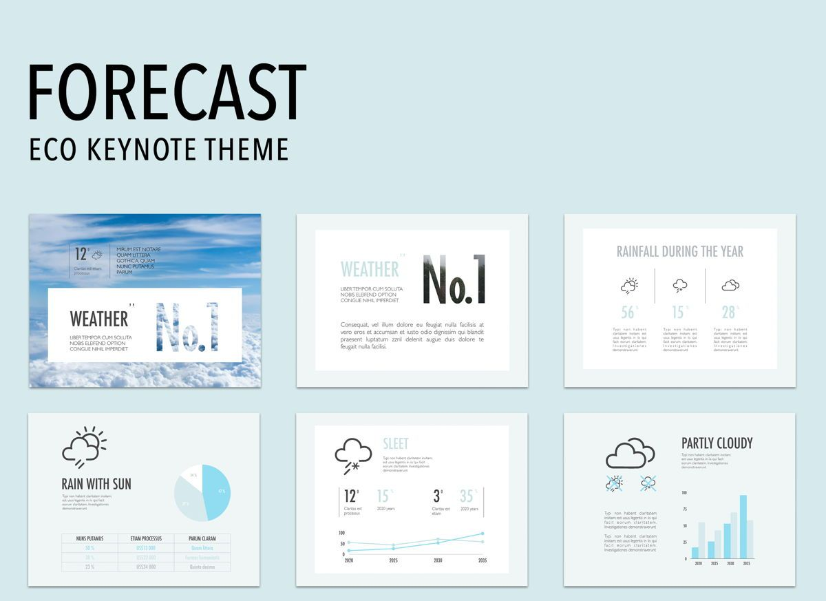 Forecast Keynote Presentation Template, 04884, Business Models — PoweredTemplate.com