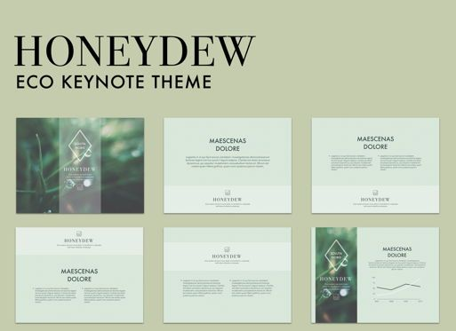 Business Models: Honeydew Keynote Presentation Template #04886