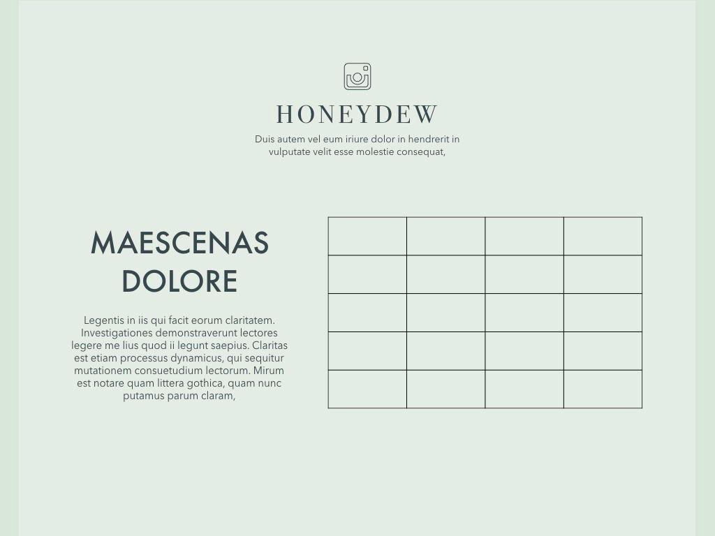 Honeydew Keynote Presentation Template, Slide 13, 04886, Business Models — PoweredTemplate.com
