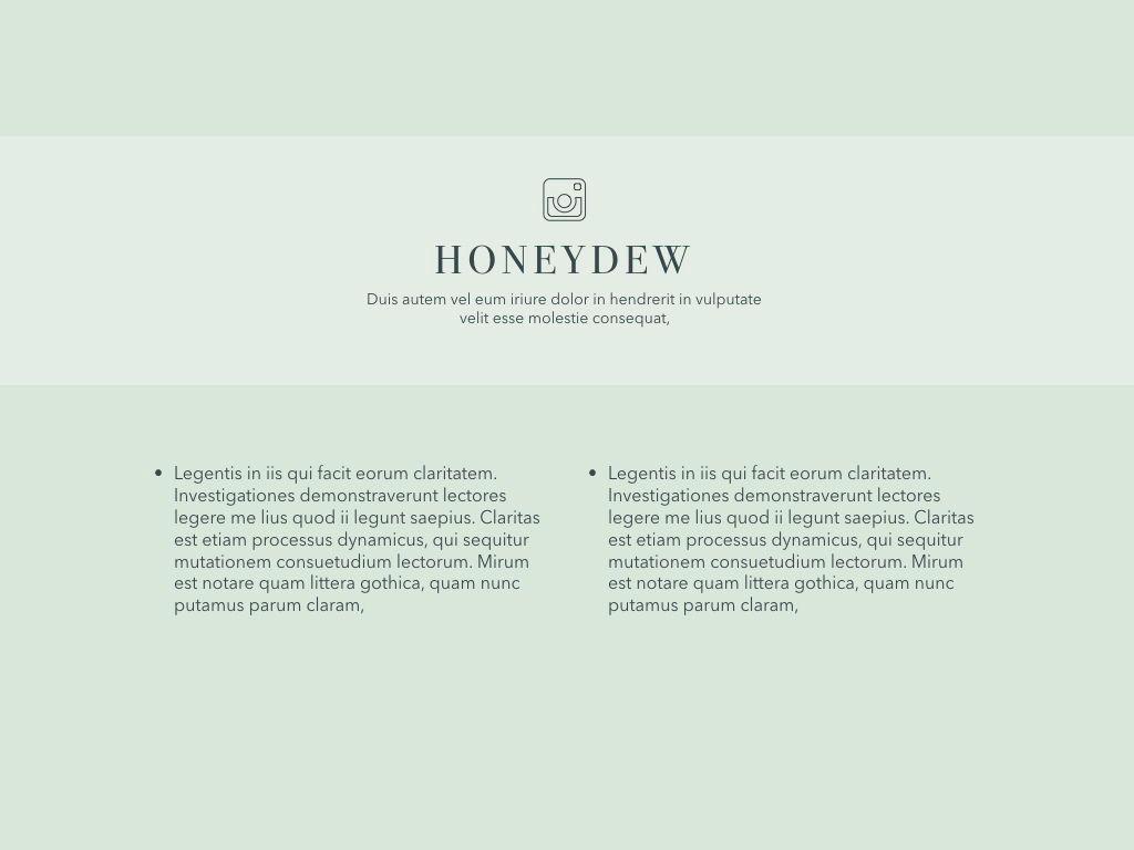 Honeydew Keynote Presentation Template, Slide 18, 04886, Business Models — PoweredTemplate.com