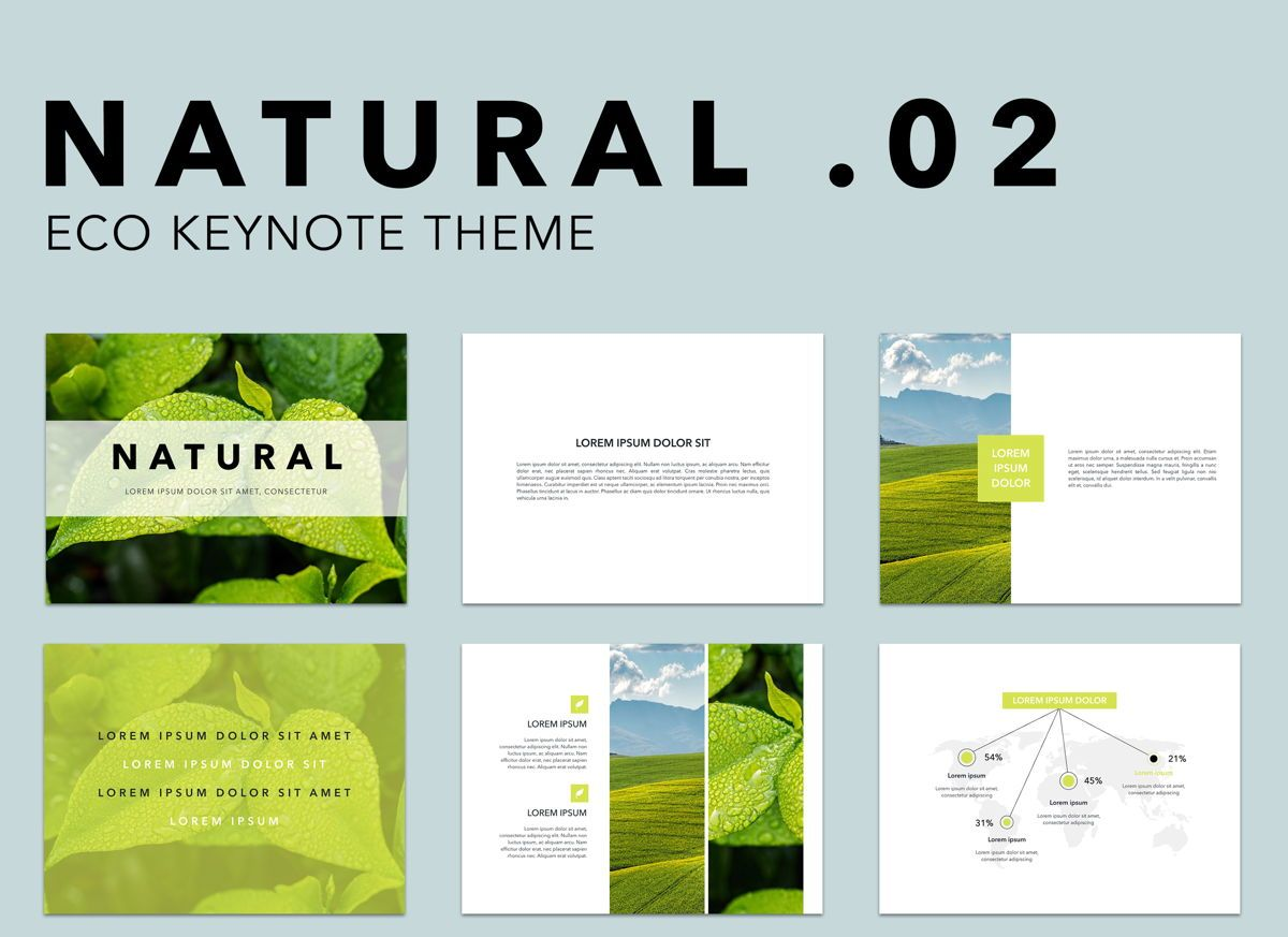 Natural 02 Keynote Presentation Template, 04887, Business Models — PoweredTemplate.com