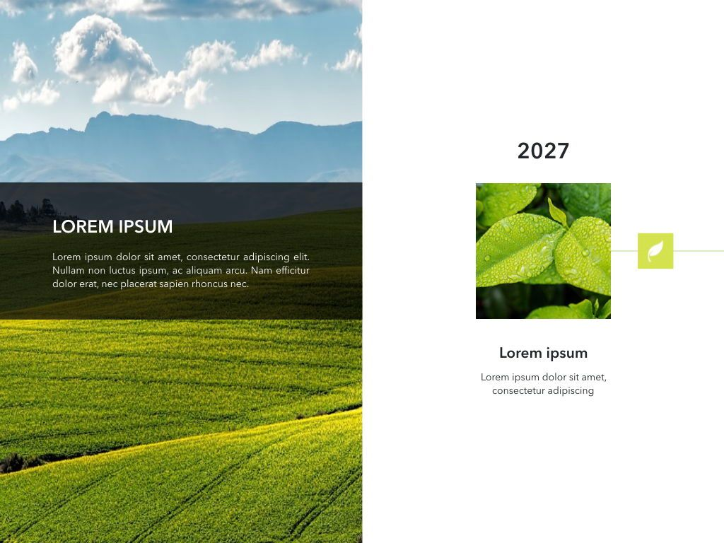 Natural 02 Keynote Presentation Template, Slide 2, 04887, Business Models — PoweredTemplate.com