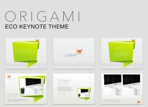 Business Models: Origami Keynote Presentation Template #04888