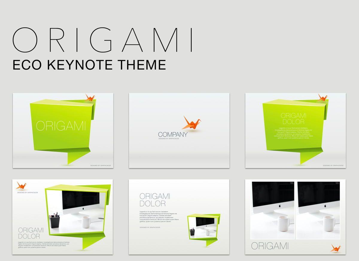 Origami Keynote Presentation Template, 04888, Business Models — PoweredTemplate.com