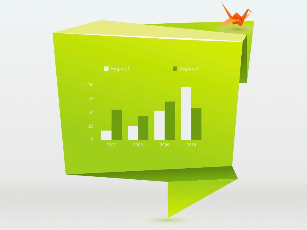 Origami Keynote Presentation Template, Slide 10, 04888, Business Models — PoweredTemplate.com