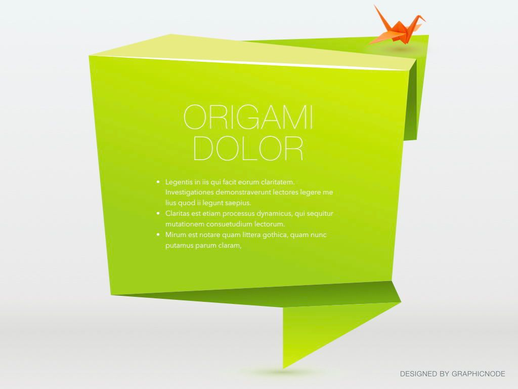 Origami Keynote Presentation Template, Slide 14, 04888, Business Models — PoweredTemplate.com