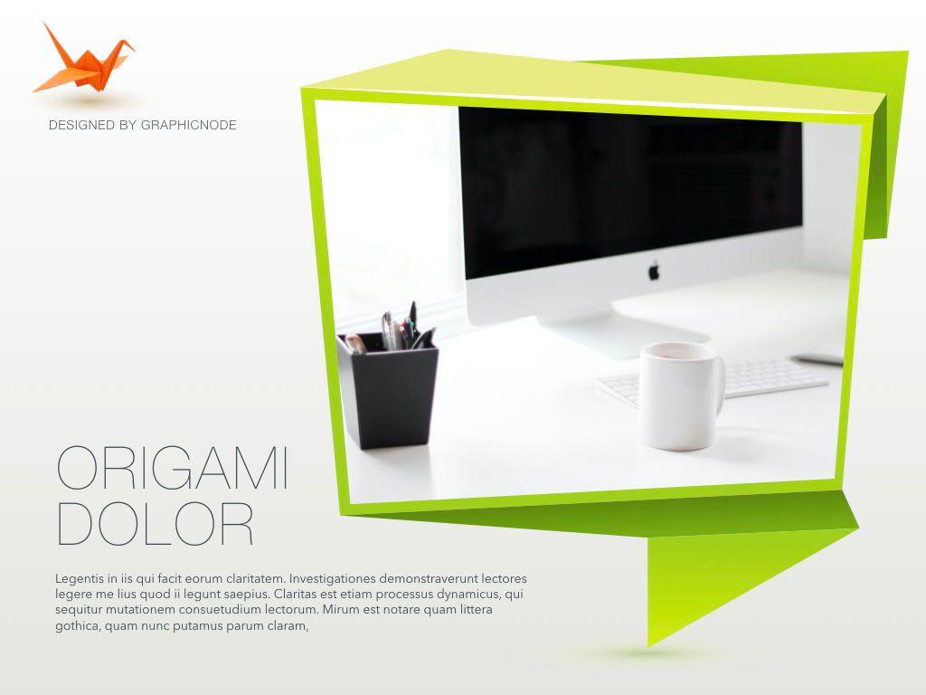 Origami Keynote Presentation Template, Slide 16, 04888, Business Models — PoweredTemplate.com