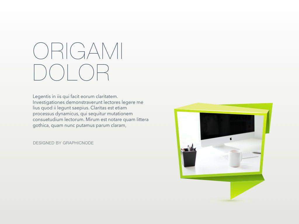 Origami Keynote Presentation Template, Slide 18, 04888, Business Models — PoweredTemplate.com
