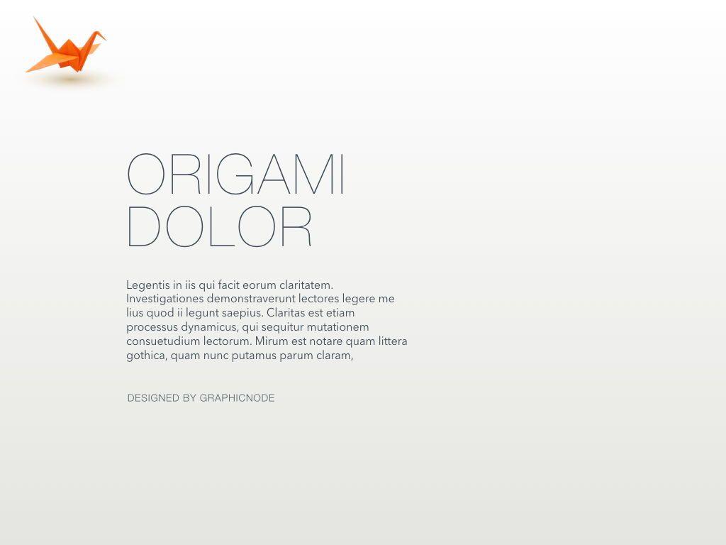 Origami Keynote Presentation Template, Slide 5, 04888, Business Models — PoweredTemplate.com