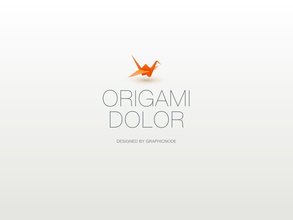 Origami Keynote Presentation Template, Slide 9, 04888, Business Models — PoweredTemplate.com