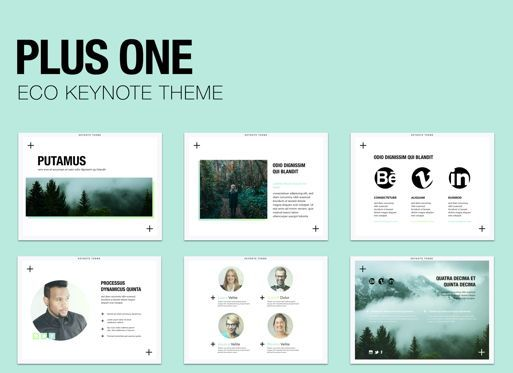 Business Models: Plus One Keynote Presentation Template #04889