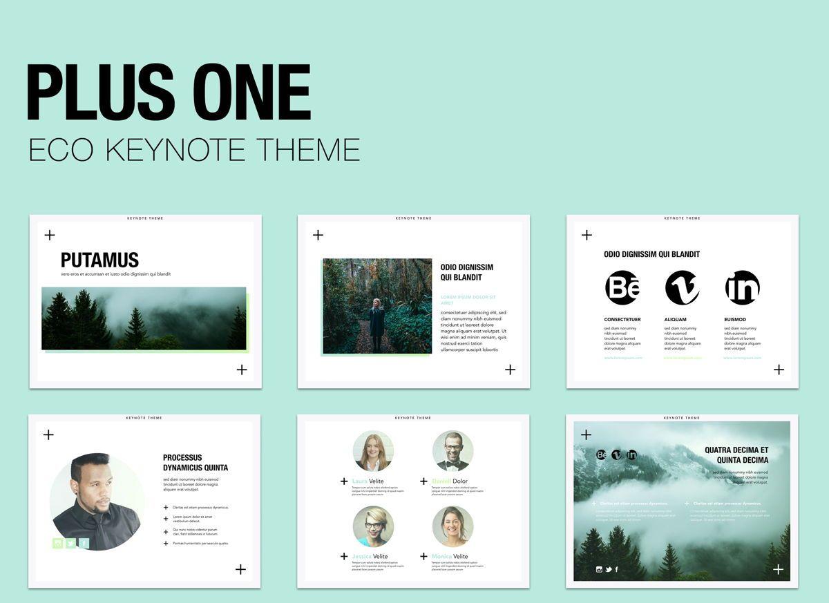 Plus One Keynote Presentation Template, 04889, Business Models — PoweredTemplate.com