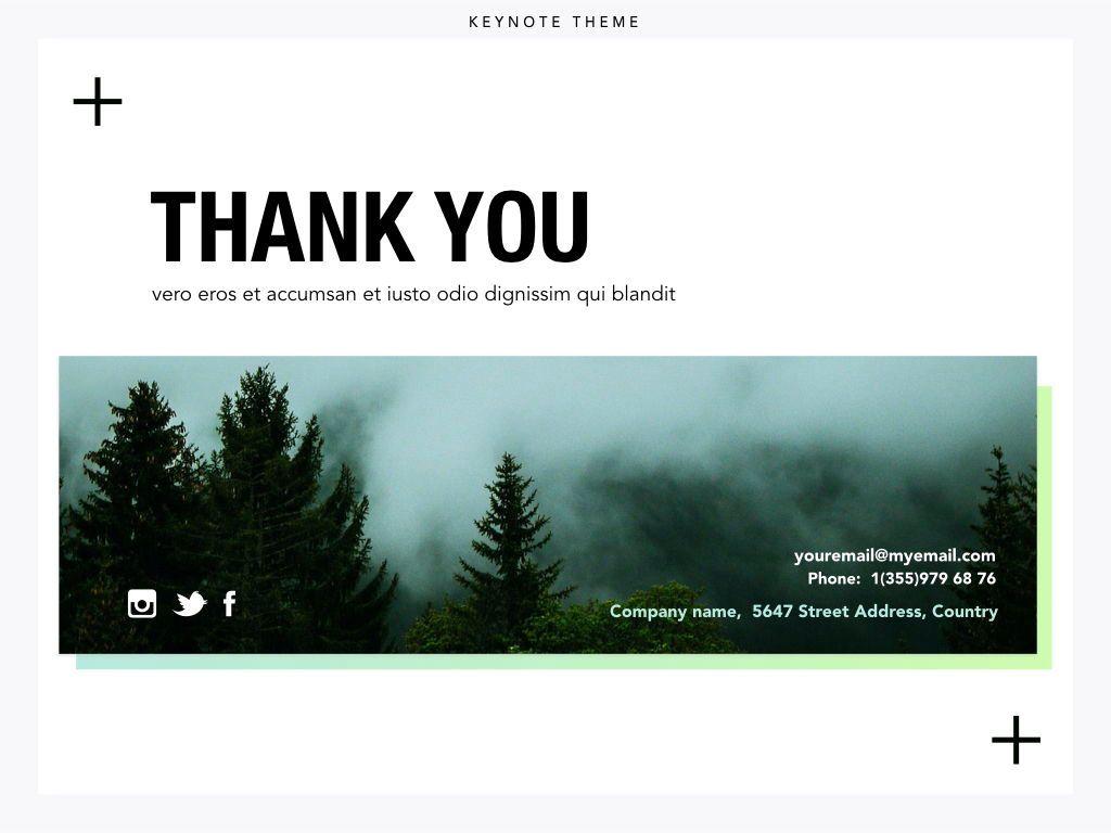 Plus One Keynote Presentation Template, Slide 25, 04889, Business Models — PoweredTemplate.com