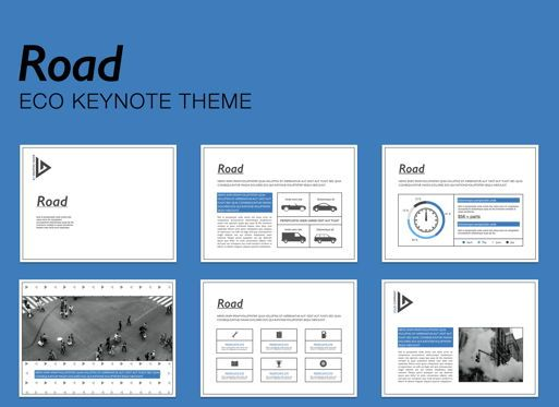 Business Models: Road Keynote Presentation Template #04890