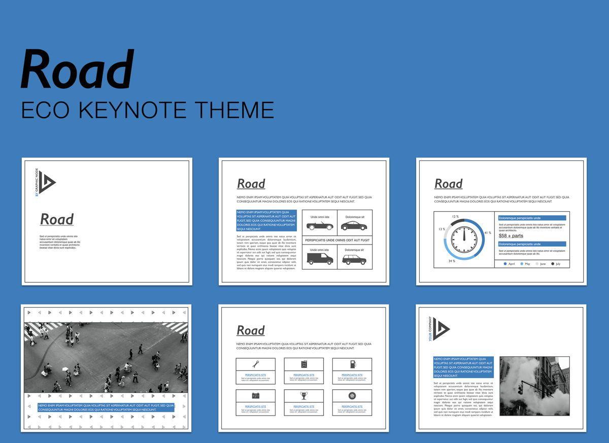 Road Keynote Presentation Template, 04890, Business Models — PoweredTemplate.com