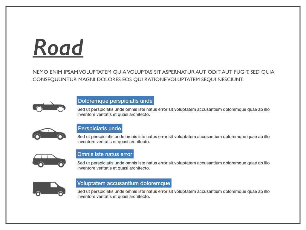 Road Keynote Presentation Template, Slide 10, 04890, Business Models — PoweredTemplate.com