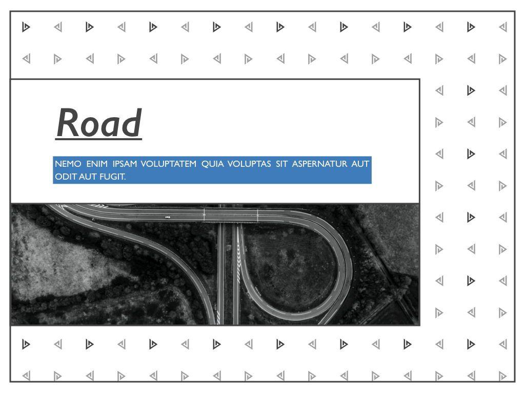 Road Keynote Presentation Template, Slide 11, 04890, Business Models — PoweredTemplate.com